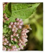 Camphorweed Wildflowers And Honey Bee Fleece Blanket