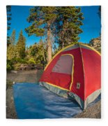 Camping In The Forest Fleece Blanket