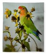 Can You Say Pretty Bird? Fleece Blanket