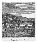 Canada: Farm, C1820 Fleece Blanket