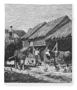 Canada: Farming, 1883 Fleece Blanket