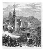 Canada: Gavazzi Riot, 1853 Fleece Blanket