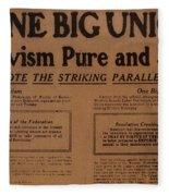 Canada: One Big Union, 1919 Fleece Blanket
