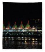Canada Place Convention Center Fleece Blanket