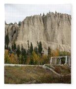 Canadian Rocky Mountains Hoodoos Fleece Blanket