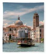 Canal Grande. Venezia Fleece Blanket