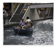 Canal Running Through The Length Of The Shoppes Running Under Th Fleece Blanket
