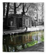 Canal Saint Martin Fleece Blanket