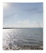 Canandaigua Lake Panorama Fleece Blanket