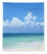 Cancun Beach Fleece Blanket