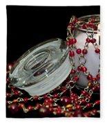 Candle And Beads Fleece Blanket