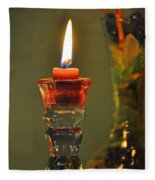 Candle And Colored Glass Fleece Blanket