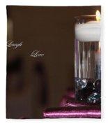 Candle - Live Laugh Love Fleece Blanket