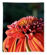 Candy Corn Cone Flower Fleece Blanket