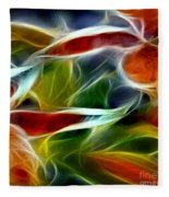 Candy Lily Fractal Panel 2 Fleece Blanket