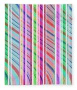 Candy Stripe Fleece Blanket