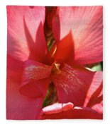 Canna Lily Close Up Fleece Blanket