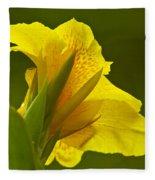 Canna Lily Fleece Blanket