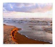 Cannon Beach Painting Fleece Blanket