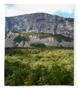 Cannon Cliff From Boise Rock New Hampshire Fleece Blanket