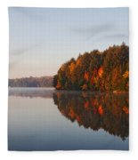 Canoe Lake  Algonquin Fleece Blanket