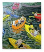 Canoes Fleece Blanket