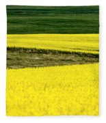 Canola Crop Fleece Blanket