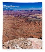 Canyon In Canyonlands Fleece Blanket