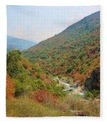 Canyon Stream Fleece Blanket