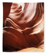 Canyon Waves Fleece Blanket