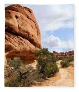 Canyonlands Needles Trail Fleece Blanket