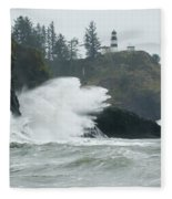 Cape Disappointment Lighthouse Fleece Blanket