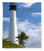 Cape Florida Lighthouse Fleece Blanket