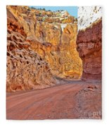 Capitol Gorge Trail At Capitol Reef Fleece Blanket