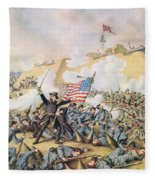 Capture Of Fort Fisher 15th January 1865 Fleece Blanket