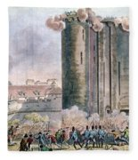 Capture Of The Bastille Fleece Blanket