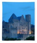Carcassonne At Twilight Fleece Blanket