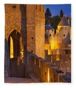 Carcassonne Ramparts Fleece Blanket