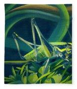 Card Of Mister Grasshopper Fleece Blanket