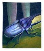 Card Of Nosey Bug Fleece Blanket