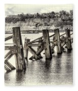 Cardiff Bay Old Jetty Supports Opal Fleece Blanket