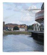 Cardiff In Wales Fleece Blanket