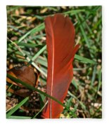 Cardinal Feather Fleece Blanket