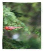 Cardinal In Flight Fleece Blanket