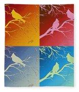 Cardinals Love 2 Pop Art Fleece Blanket