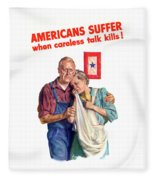 Careless Talk Kills -- Ww2 Propaganda Fleece Blanket