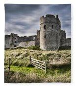 Carew Castle Pembrokeshire Long Exposure 2 Fleece Blanket