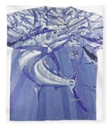 Carey Chen Mens Marlin Shirt Fleece Blanket