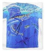 Carey Chen Mens Sailfish Shirt Fleece Blanket