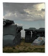 Carhenge Fleece Blanket